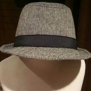 Children's Place fedora hat gray/black